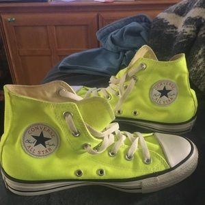 Neon Yellow Women's Converse size 8